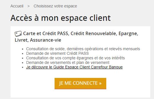 Se Connecter à Carrefour Banque