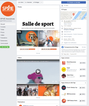 Page Facebook Spvie Assurances