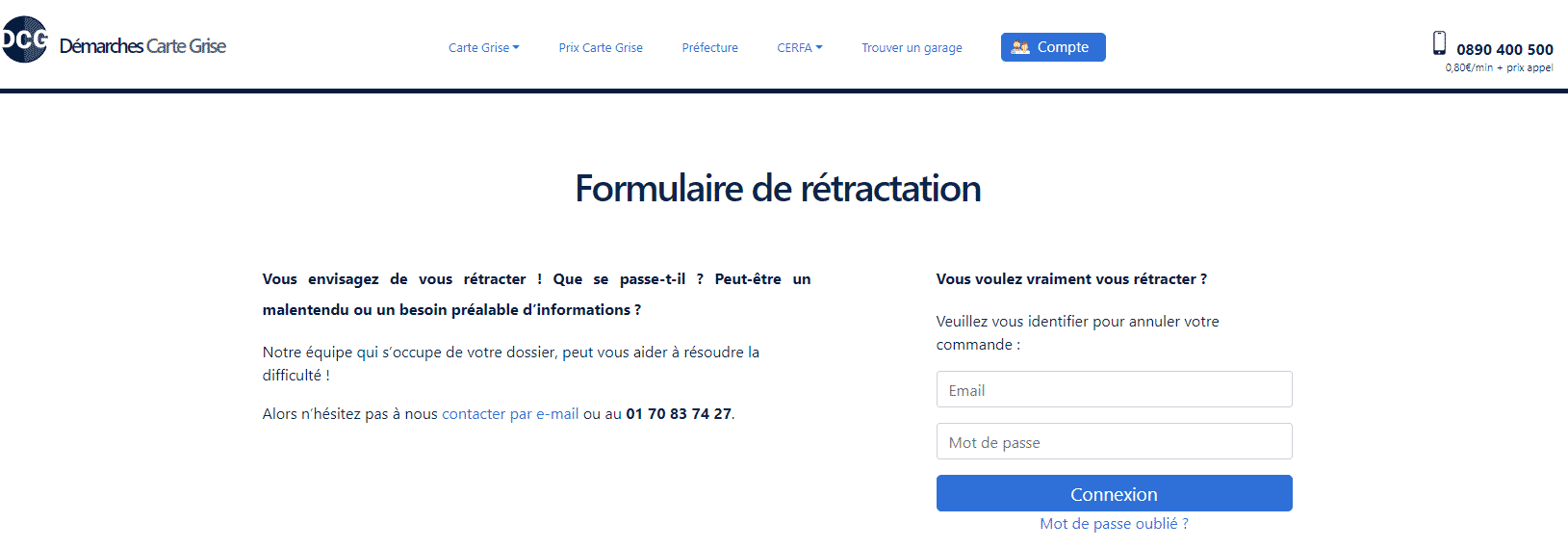 Formulaire Retractation Demarches Carte Grise